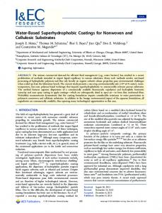 Water-Based Superhydrophobic Coatings for Nonwoven and ...