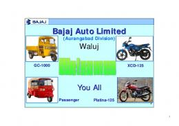 Water conservation in industry - A case study of Bajaj Auto
