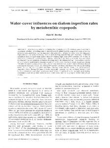 Water-cover influences on diatom ingestion rates by ... - Inter Research