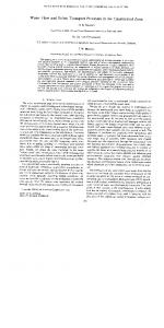 Water Flow and Solute Transport Processes in the ... - USDA ARS