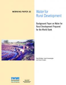 Water for Rural Development - AgEcon Search