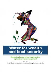 Water for wealth and food security - AgEcon Search