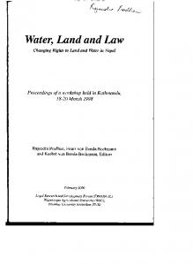 Water, Land and Law