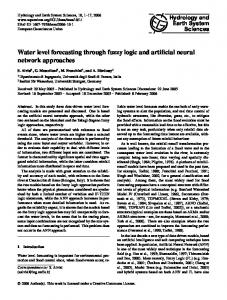 Water level forecasting through fuzzy logic and artificial neural network ...