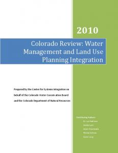 Water Management and Land Use Planning Integration