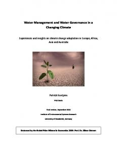 Water Management and Water Governance in a