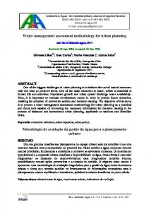 Water management assessment methodology for urban planning