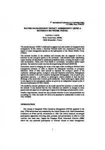 water management impact assessment using a bayesian network model