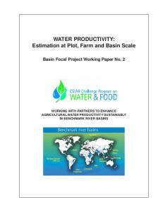 WATER PRODUCTIVITY - AgEcon Search