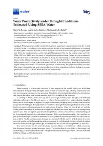 Water Productivity under Drought Conditions Estimated Using ... - MDPI