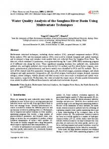 Water Quality Analysis of the Songhua River Basin Using Multivariate ...