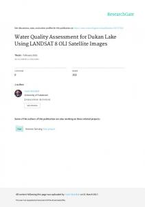 Water Quality Assessment for Dukan Lake Using ...