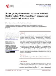 Water Quality Assessment in Terms of Water Quality Index (WQI ...