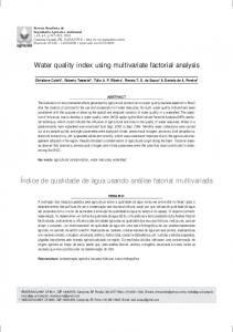 Water quality index using multivariate factorial