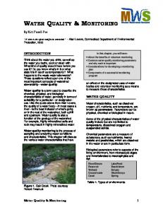 water quality & monitoring