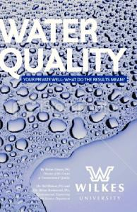 Water Quality - Your Private Well: What Do The Results Mean?