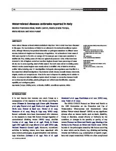 Water-related diseases outbreaks reported in Italy - Semantic Scholar