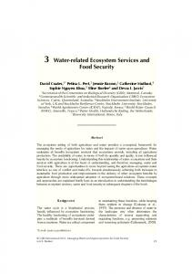 Water-related Ecosystem Services and Food Security - International ...