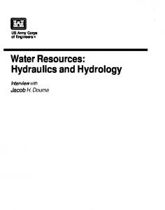 Water Resources: Hydraulics and Hydrology - U.S. Army