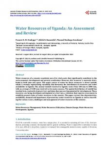 Water Resources of Uganda - Scientific Research Publishing