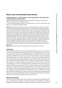 Water reuse for the bottled water industry