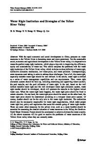 Water Right Institution and Strategies of the Yellow ... - Springer Link