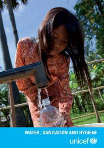 WATER , SANITATION AND HYGIENE - Unicef