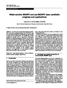 Water-soluble BODIPY and aza-BODIPY dyes