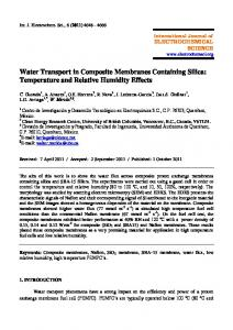 Water Transport in Composite Membranes Containing Silica ...
