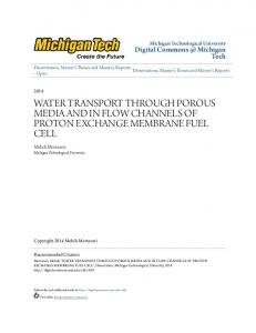 water transport through porous media and in flow ...