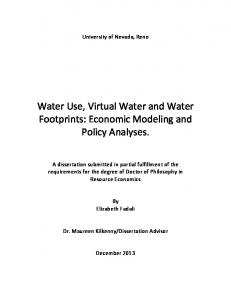 Water Use, Virtual Water and Water Footprints