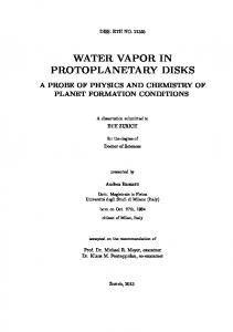 WATER VAPOR IN PROTOPLANETARY DISKS