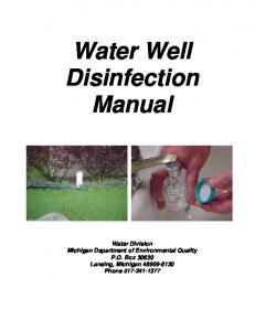 Water Well Disinfection Manual