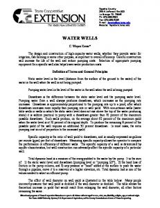 Water Wells - AgriLife.org