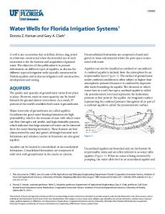 Water Wells for Florida Irrigation Systems1 - CiteSeerX