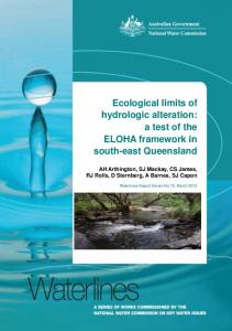 Waterlines 75. Ecological limits of hydrologic ...