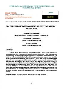 watershed modeling using artificial neural networks - Semantic Scholar