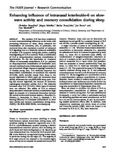 wave activity and memory consolidation during sleep