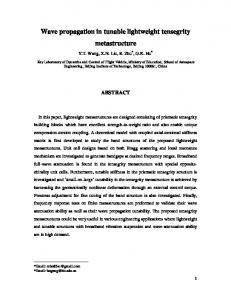 Wave propagation in tunable lightweight tensegrity metastructure