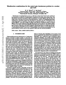 Wavefunction considerations for the central spin decoherence ...