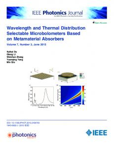 Wavelength and Thermal Distribution Selectable ... - IEEE Xplore