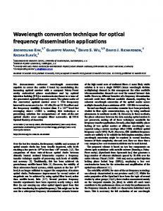 Wavelength conversion technique for optical frequency dissemination