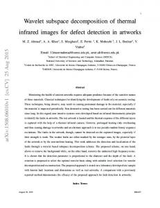 Wavelet subspace decomposition of thermal infrared images