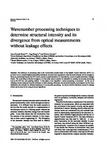 Wavenumber processing techniques to determine ... - IOS Press