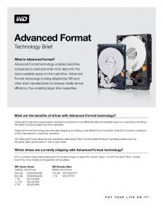 WD Advanced Format Technology Brief Flyer
