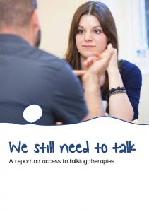We still need to talk: a report on access to talking therapies - Mind