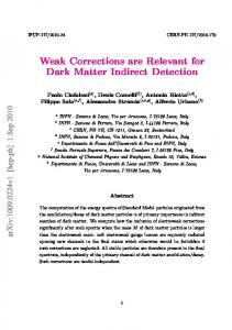 Weak Corrections are Relevant for Dark Matter Indirect Detection