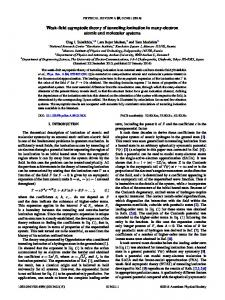 Weak-field asymptotic theory of tunneling ionization in many-electron ...