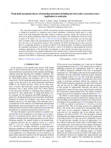 Weak-field asymptotic theory of tunneling ionization including the first ...