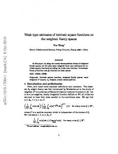 Weak type estimates of intrinsic square functions on the weighted